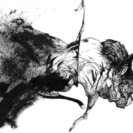Drawing done in collaboration with Romina Carrara: Bull Two Hands