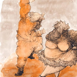 Pen and washed ink: When those two danced