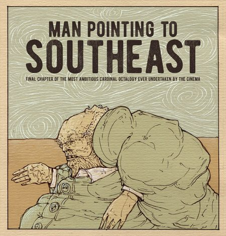 Man Pointing To Southeast movie poster illustration