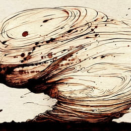 Pen and Ink illustration: Master of Tornadoes tale